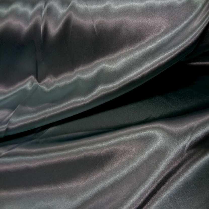 Satin vert changeant kaki clair metallise