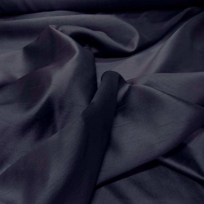Satine bleu nuit effet dupion