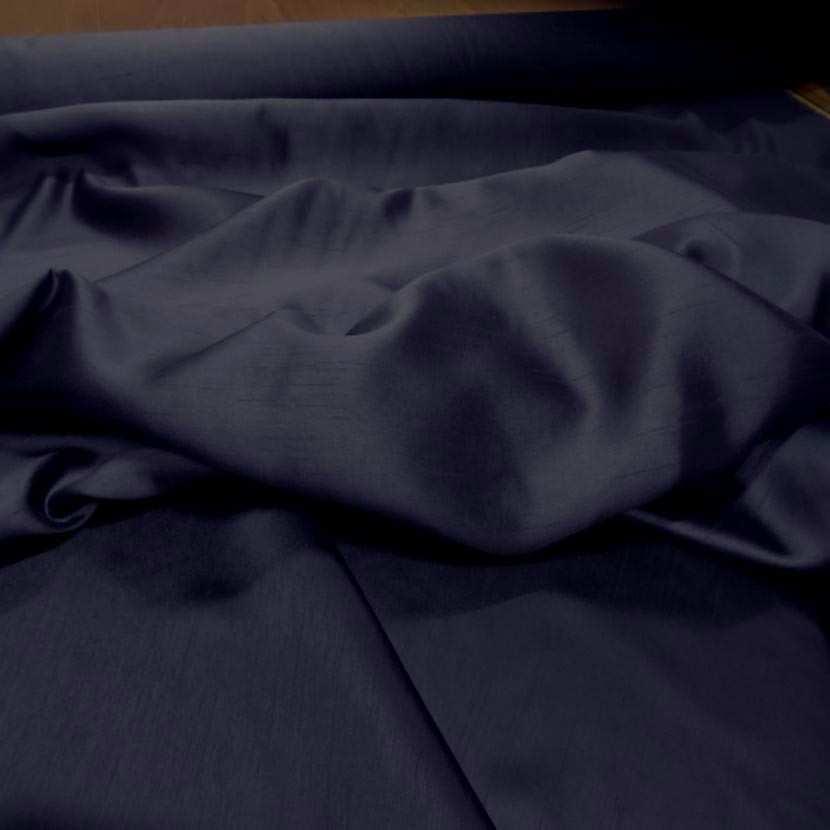 Satine bleu nuit effet dupion5