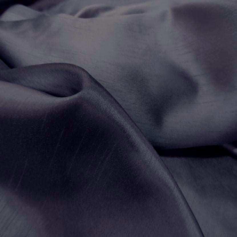 Satine bleu nuit effet dupion6