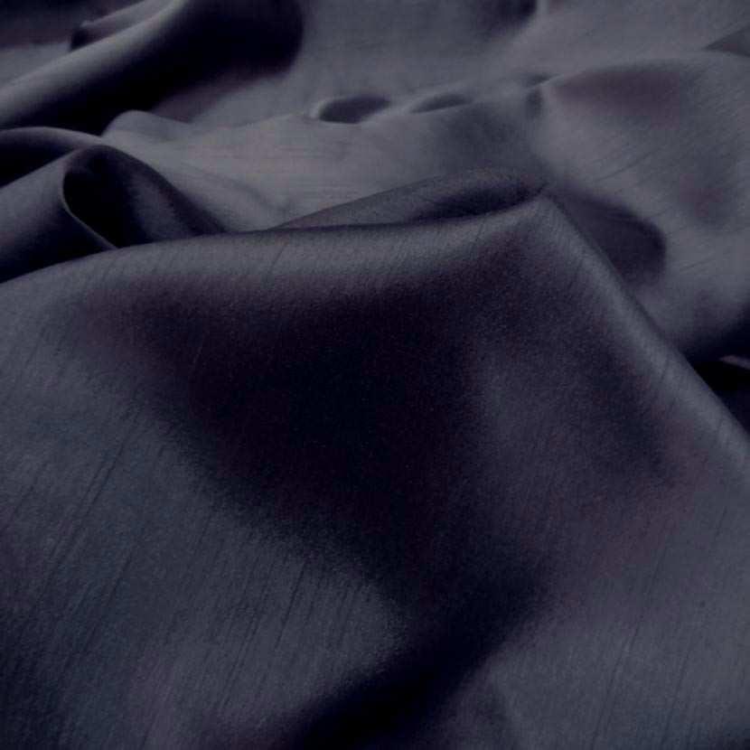 Satine bleu nuit effet dupion7