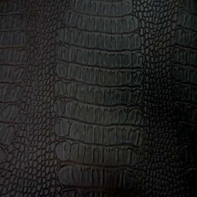 Simili cuir crocodile marron
