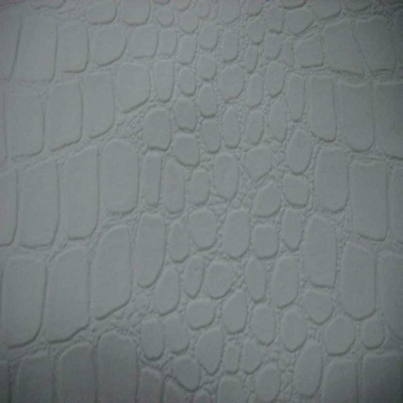 Simili cuir faconne crocodile blanc en 1 35m de large