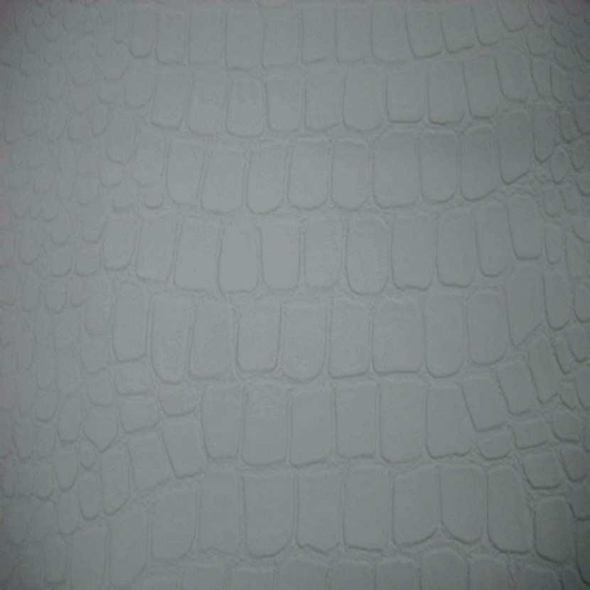 Simili cuir faconne crocodile blanc en 1 35m de large0