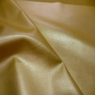 Simili cuir jaune dore en 1 40m de large