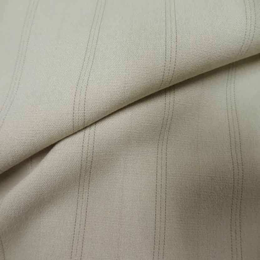Stretch polyester a rayures beige0