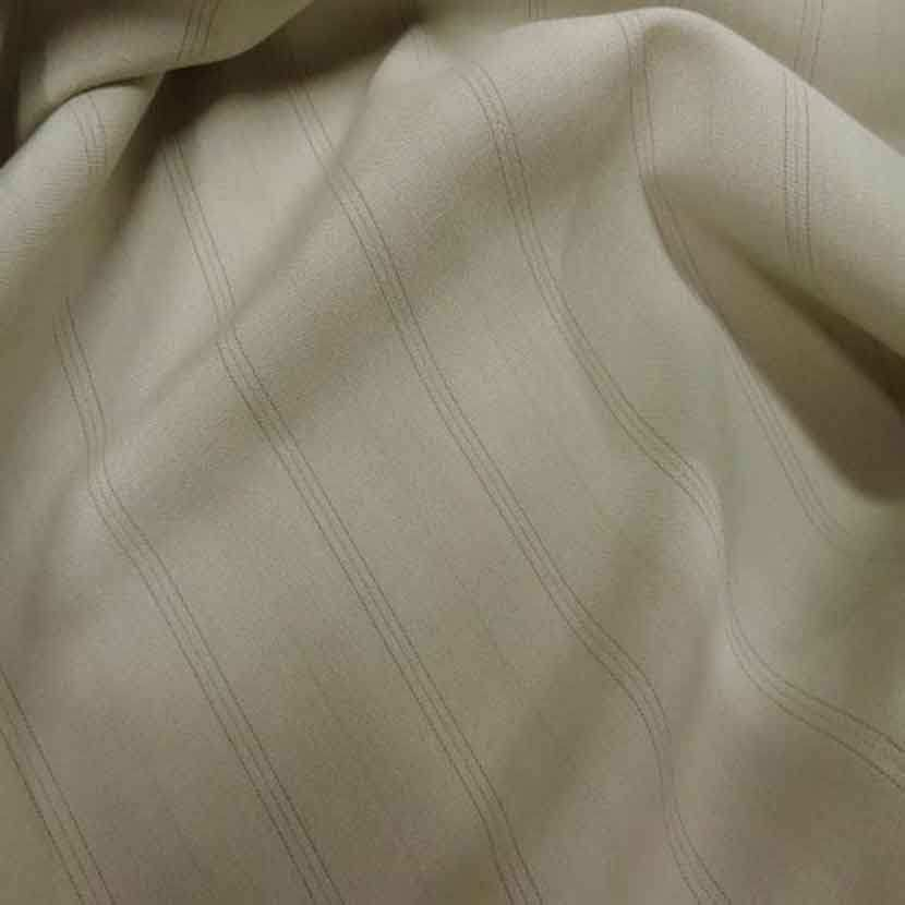 Stretch polyester a rayures beige1