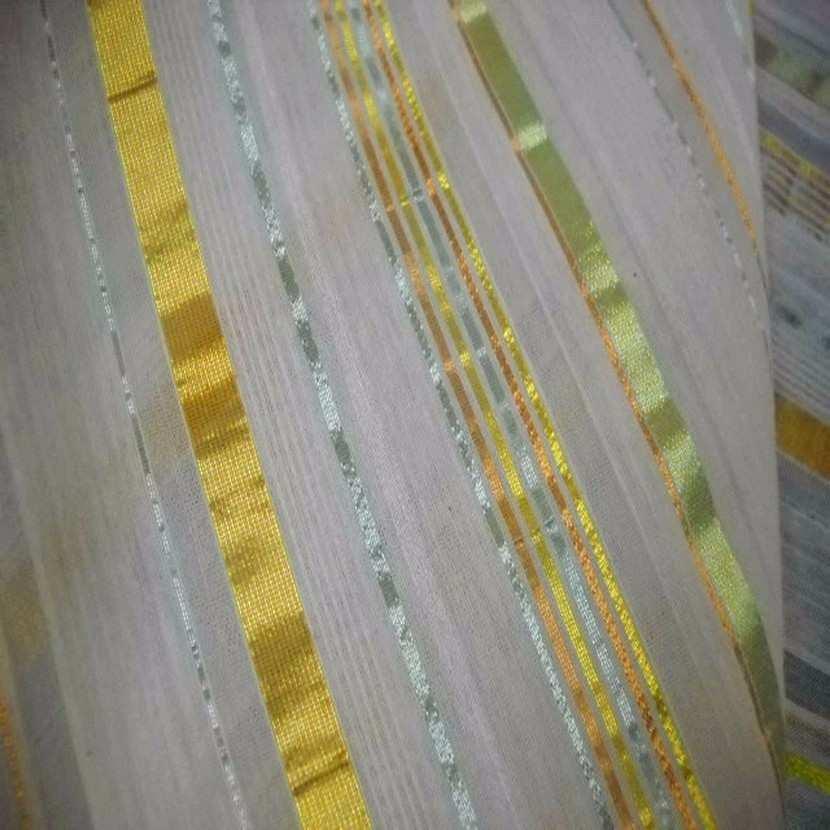 Style taffetas a rayures dore vert jaune