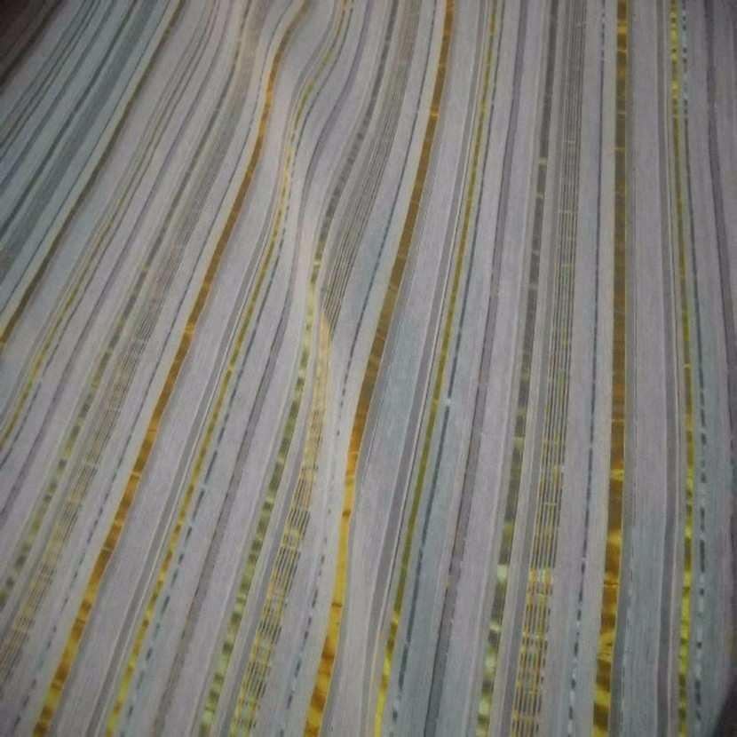 Style taffetas a rayures dore vert jaune1