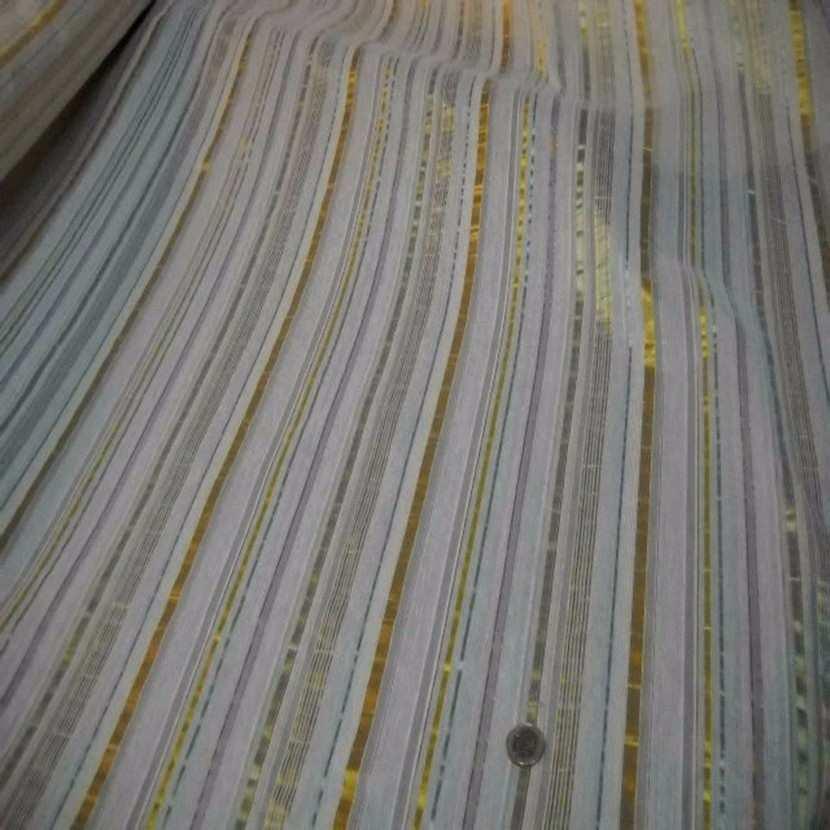 Style taffetas a rayures dore vert jaune6