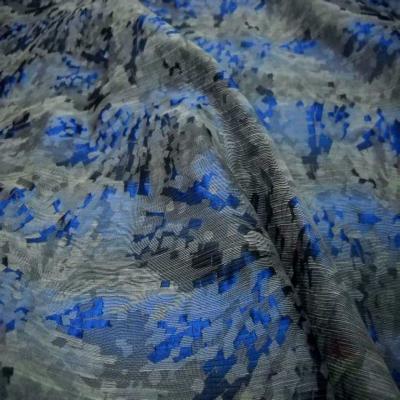 Style taffetas faconne ton bleu gris