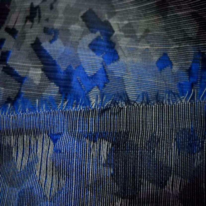 Style taffetas faconne ton bleu gris4
