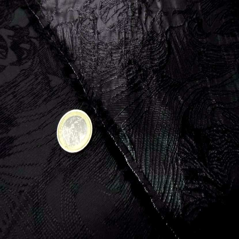 Style taffetas faconne ton noir6