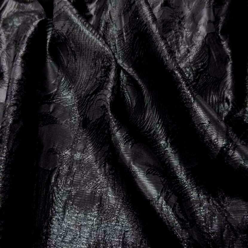 Style taffetas faconne ton noir8
