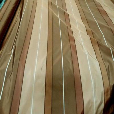 Taffetas a bandes ton beige kaki taupe en 3 20m de l8