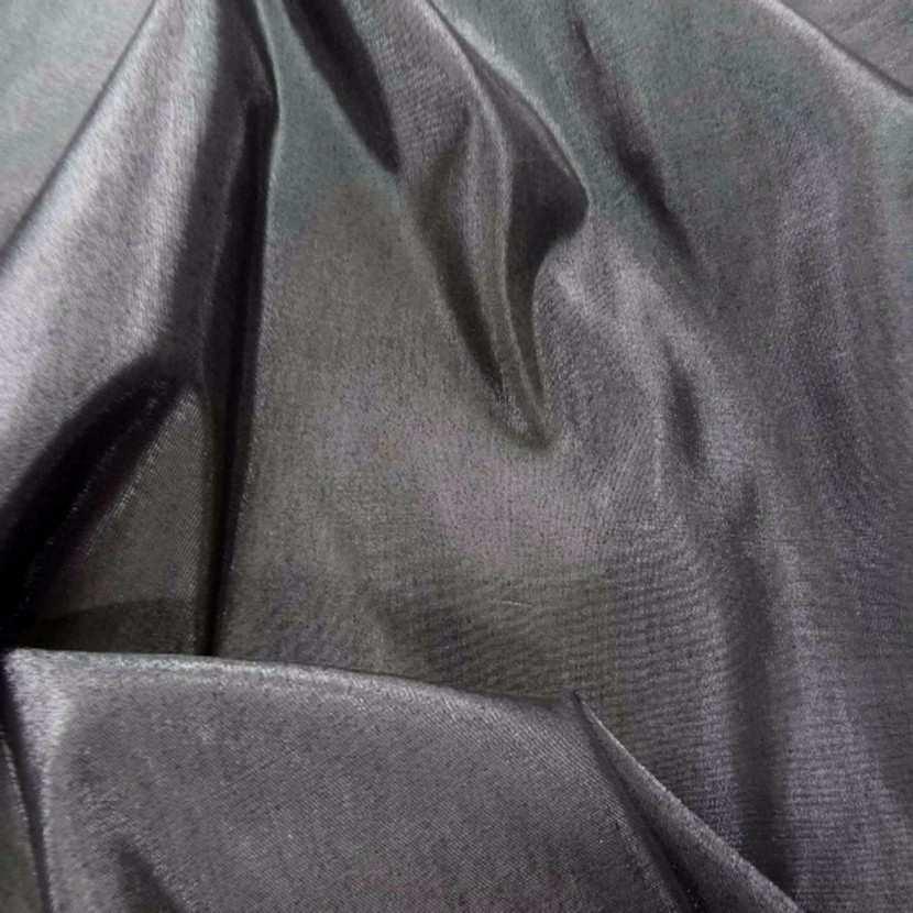 Taffetas apparence organza ton gris metal0