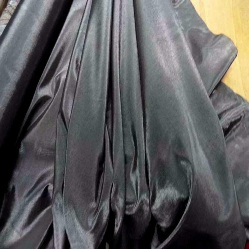 Taffetas apparence organza ton gris metal1