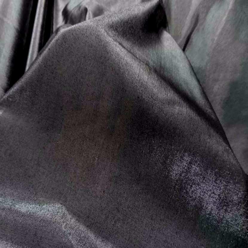 Taffetas apparence organza ton gris metal7