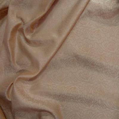 Taffetas beige brode motifs dore