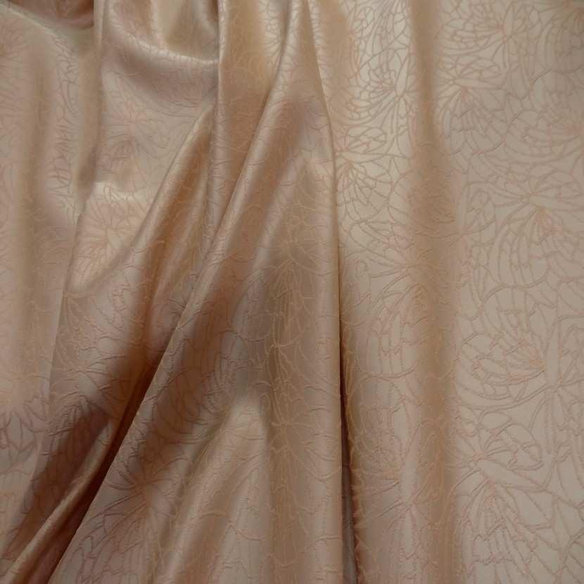 Taffetas beige brode motifs dore0