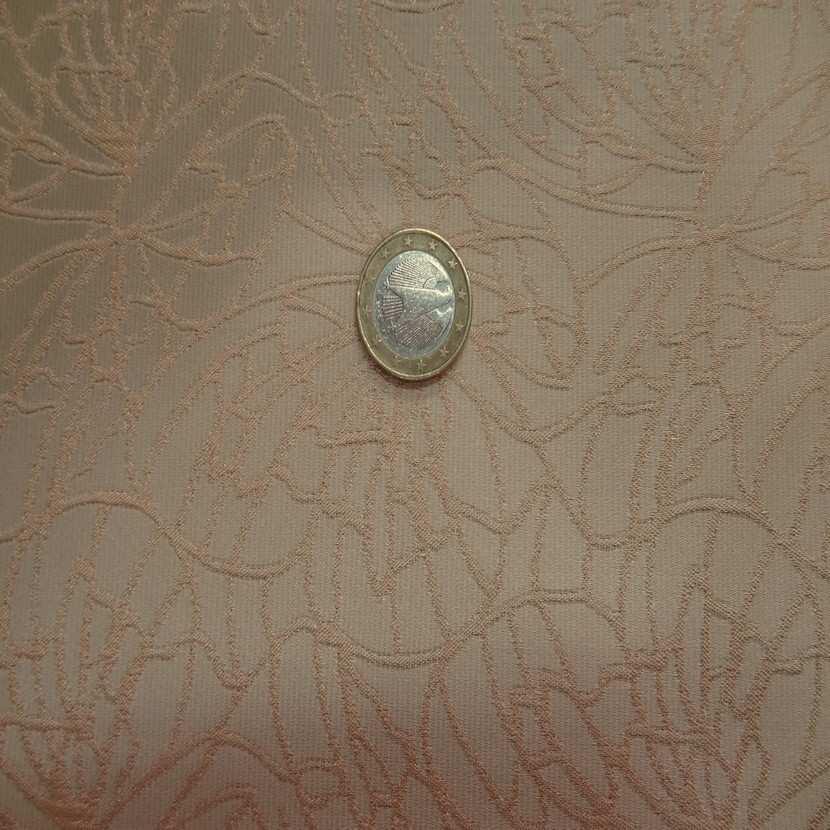 Taffetas beige brode motifs dore8