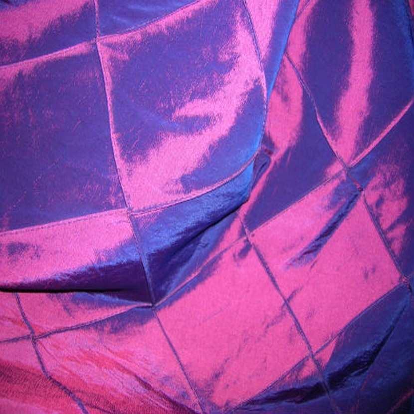 Taffetas bleu rouge faconne carreaux5