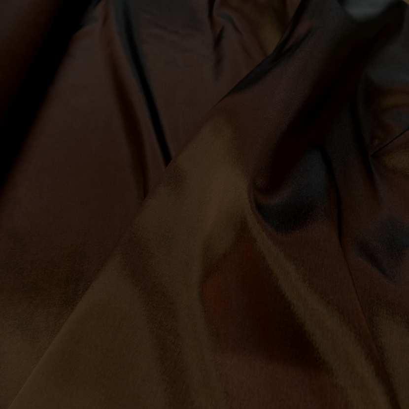 Taffetas changeant bronze cuivre a reflets