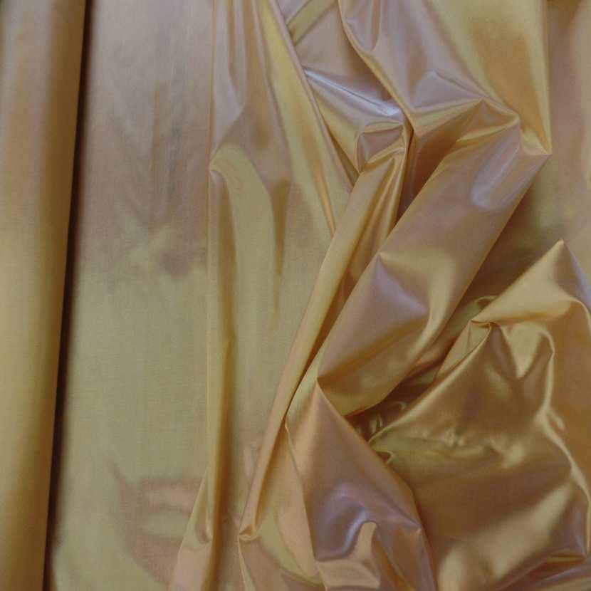 Taffetas changeant jaune dore a reflets00