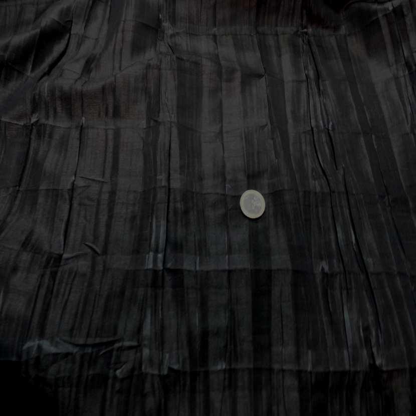 Taffetas changeant plisse permanent noir reflets marron7