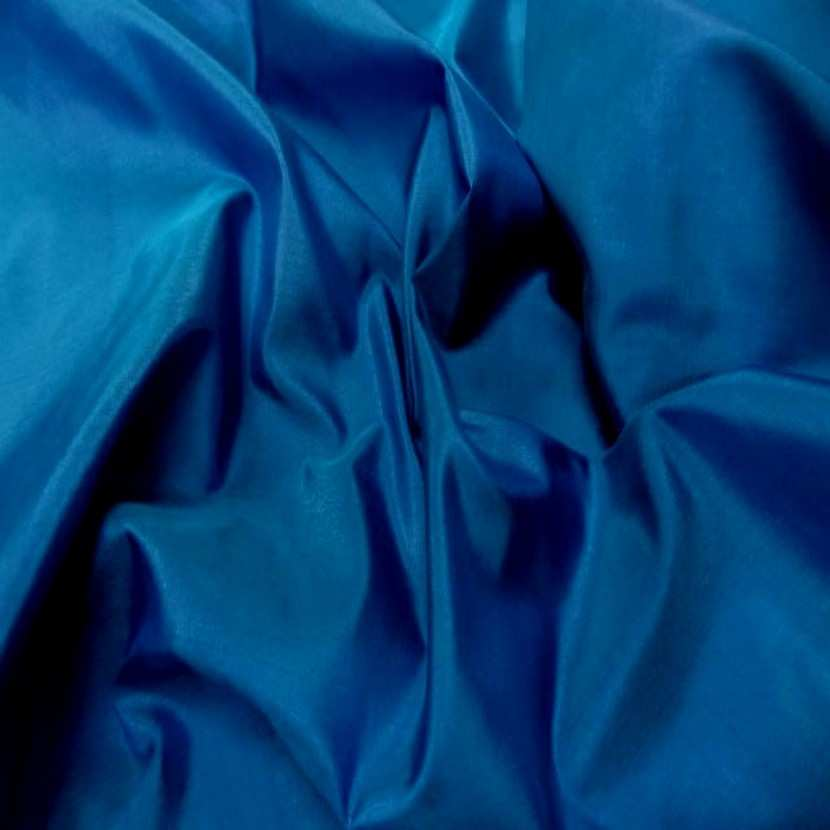 Taffetas de soie 100 bleu changeant