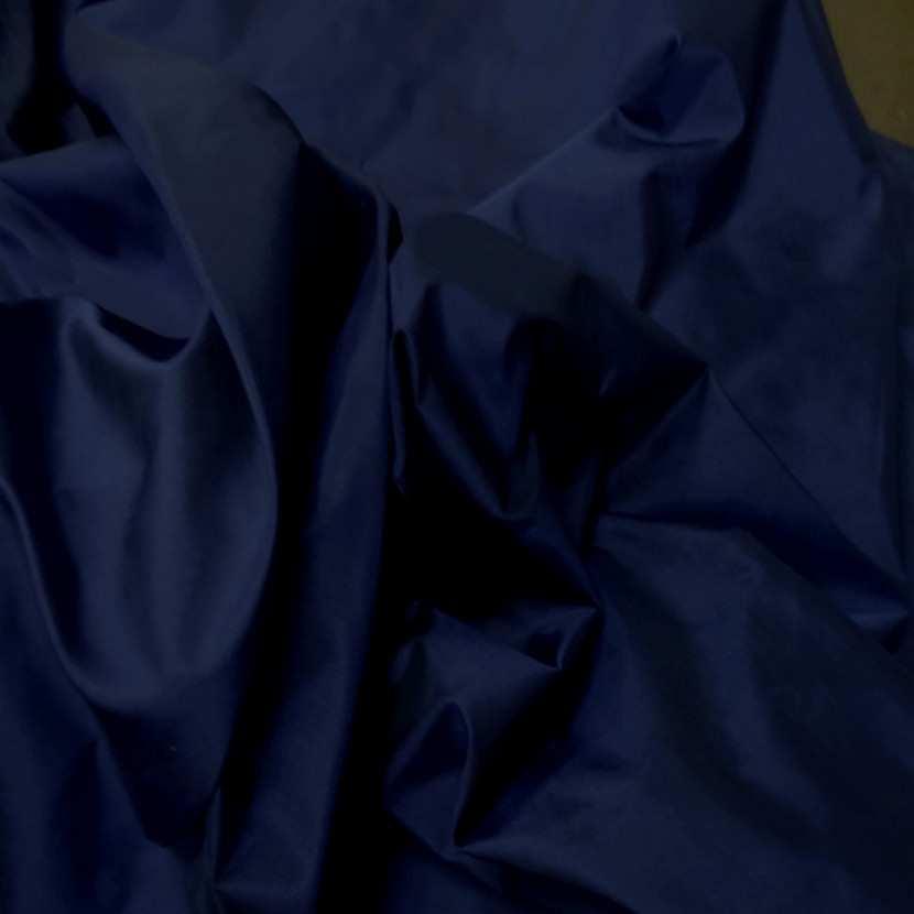 Taffetas de soie 100 bleu marine