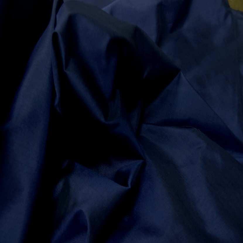 Taffetas de soie 100 bleu marine8