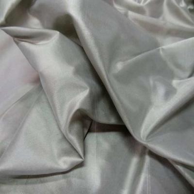 Taffetas de soie 100 changeant gris dore