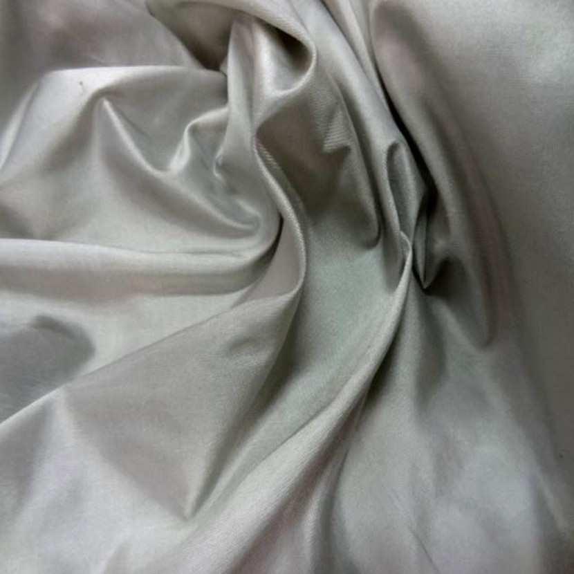 Taffetas de soie 100 changeant gris dore2