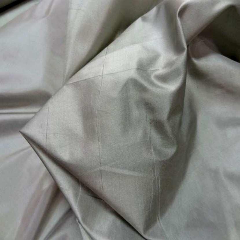 Taffetas de soie 100 changeant gris dore7