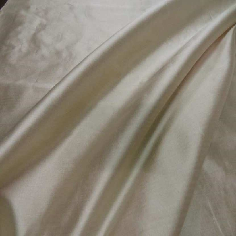 Taffetas de soie beige double organza raye