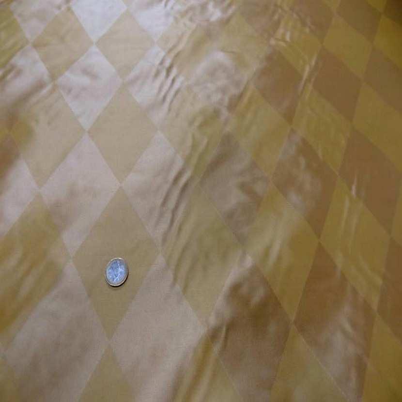Taffetas de soie dessin arlequin ton jaune en 1 45m de l4