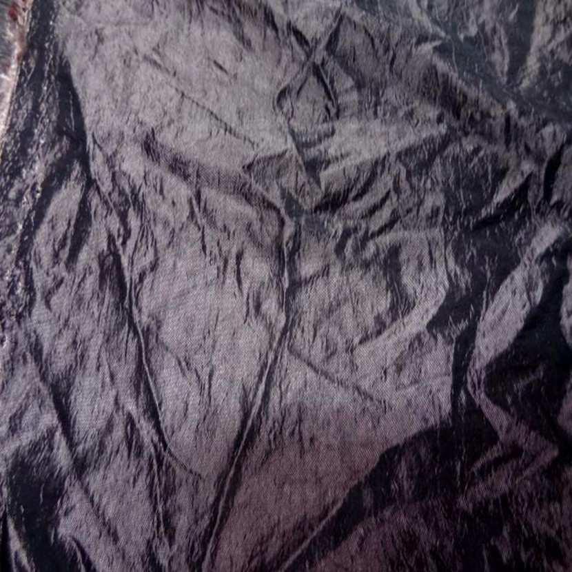 Taffetas froisse permanent vieux rose a reflets noir9