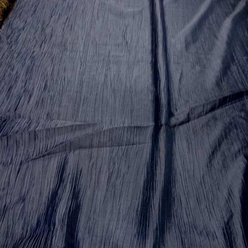 Taffetas froisse plisse gris bleu metal zinc3