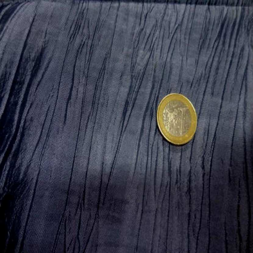 Taffetas froisse plisse gris bleu metal zinc4