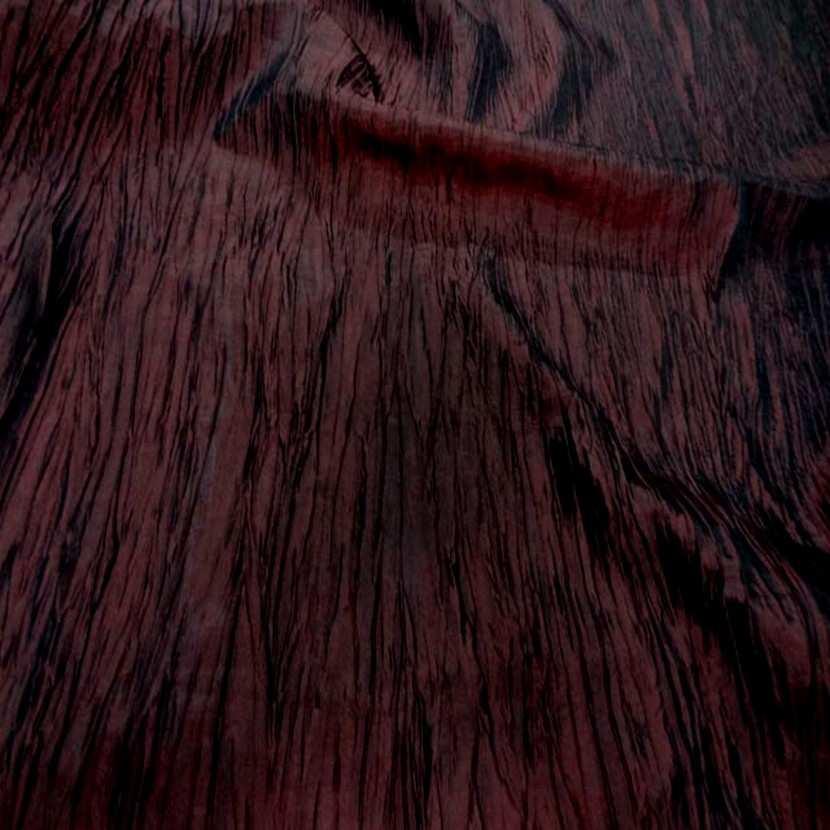 Taffetas froisse plisse rouge bordeaux 7