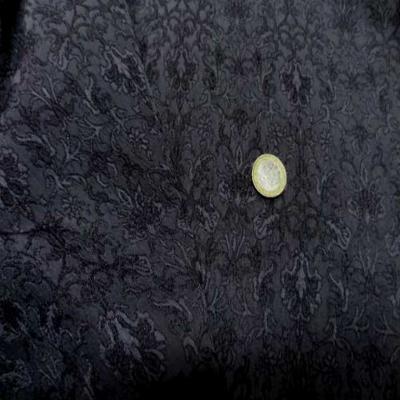Taffetas jacquard gris anthracite