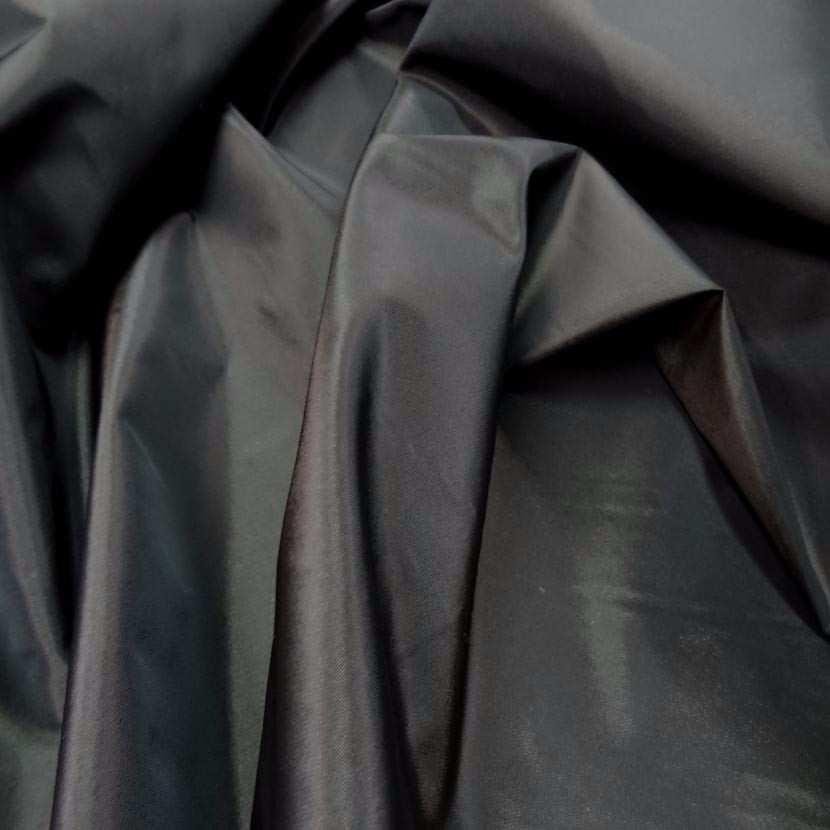 Taffetas marron fonce a reflets noir