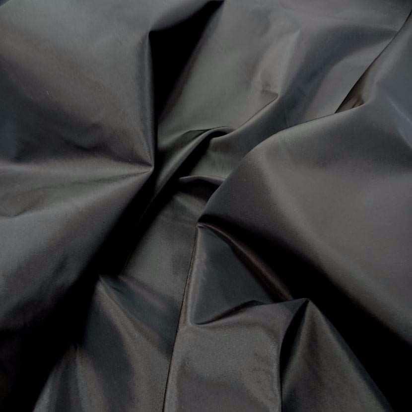 Taffetas marron fonce a reflets noir06