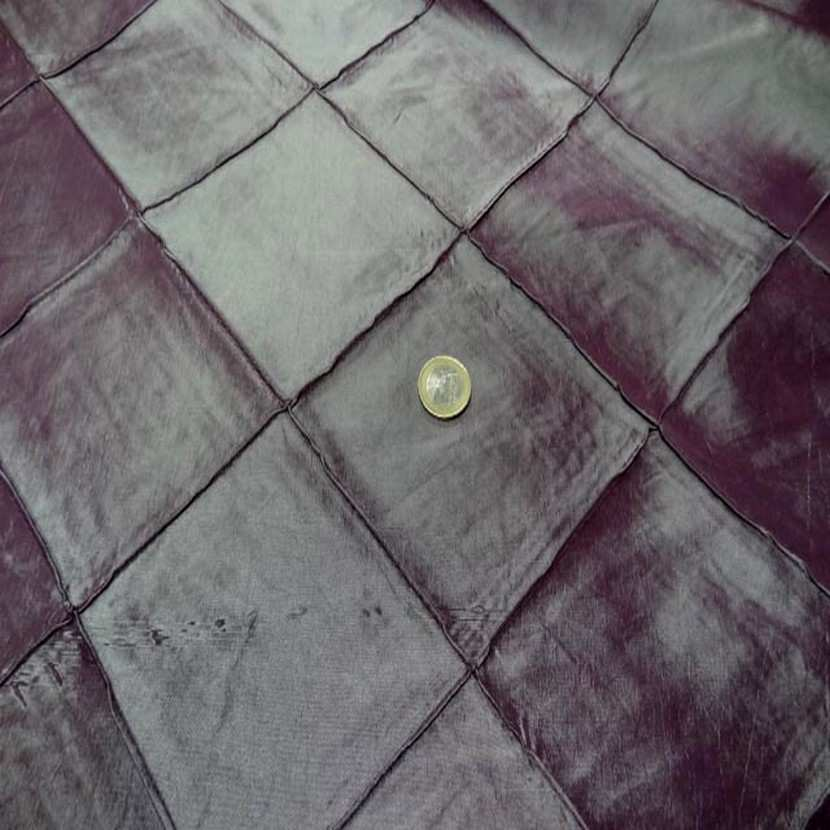 Taffetas prune turquoise faconne carreaux3