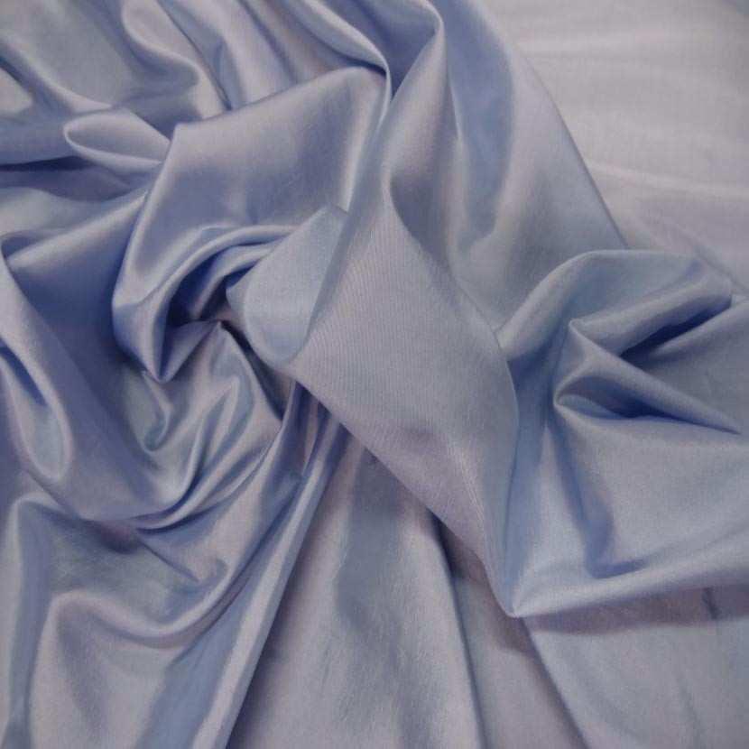 Taffetas souple bleu reflets blanc7