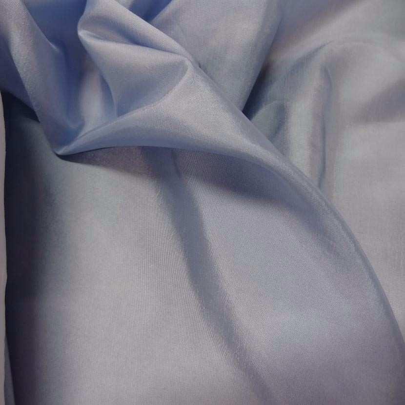 Taffetas souple bleu reflets blanc9