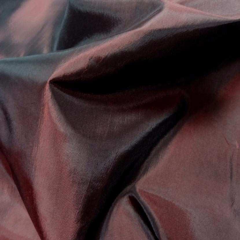 Taffetas souple bordeaux changeant rouge noir5