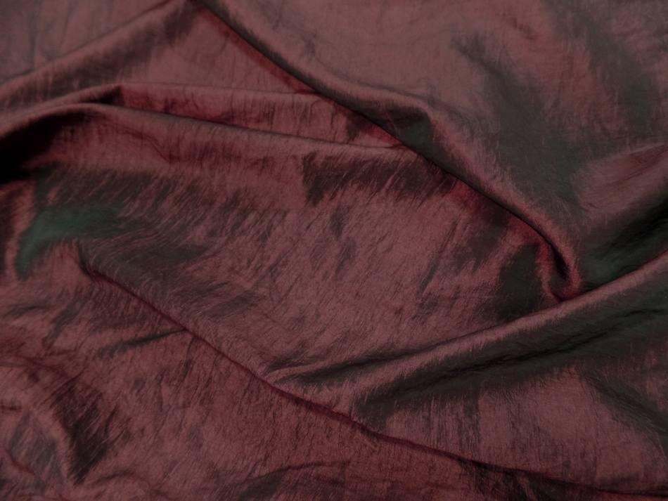 Taffetas souple froissé permanent changeant rouge bordeaux a reflets noir en ligne