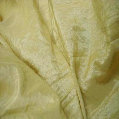 Taffetas souple froisse permanent ton jaune pale